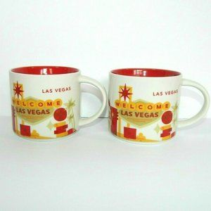 Set of 2 Starbucks YOU ARE HERE Las Vegas Mugs